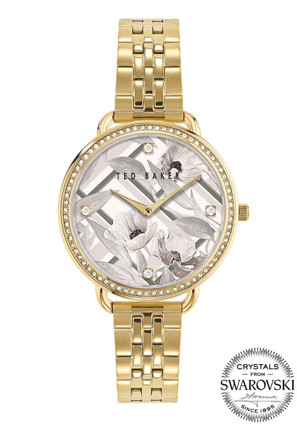 Ted Baker Hettie Swarovski Gold Bracelet Watch