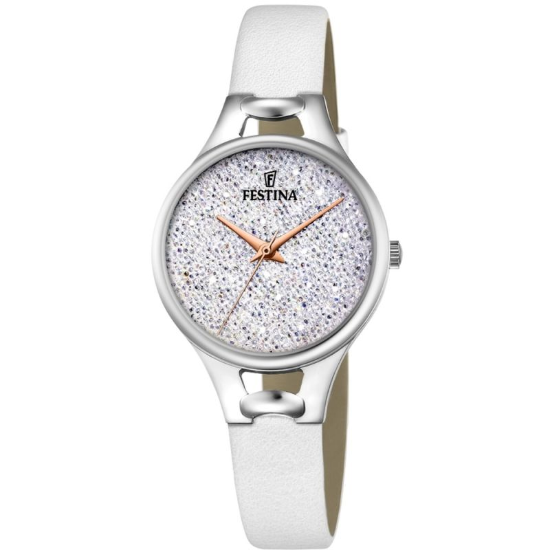Festina Mademoiselle Silver Leather Strap