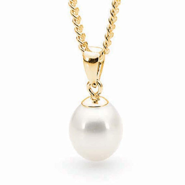 9Ct Yellow Gold Freshwater Pearl Pendant