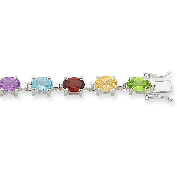 Sterling Silver Multicoloured Bracelet