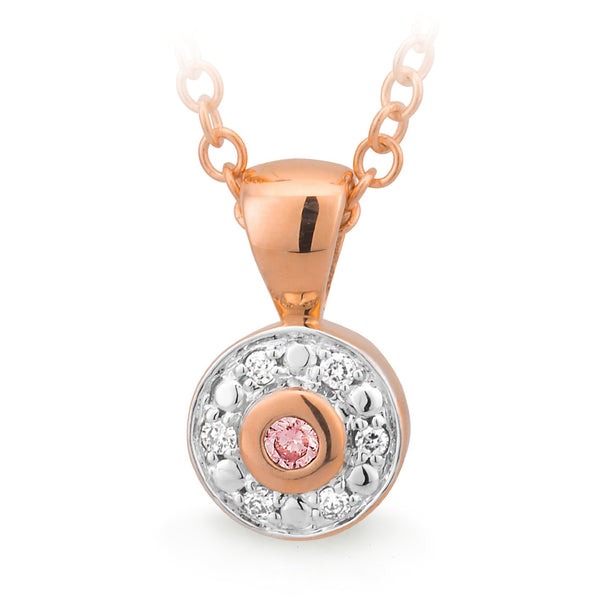 PINK CAVIAR 0.045ct Pink Diamond Pendant in 9ct Rose Gold