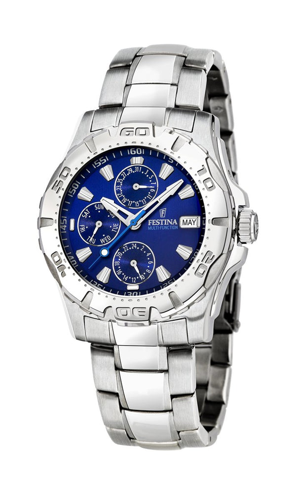 Festina Gents Multifunction Silver Bracelet Watch
