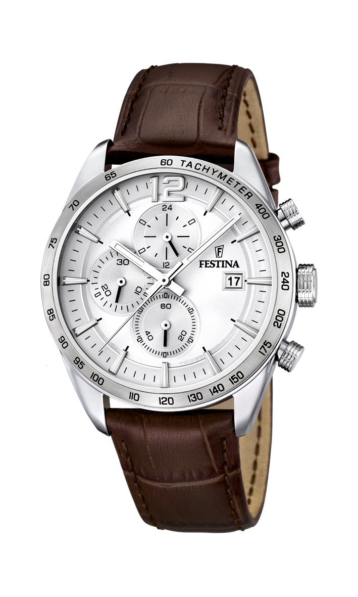 Festina Timeless Chrono Leather Watch
