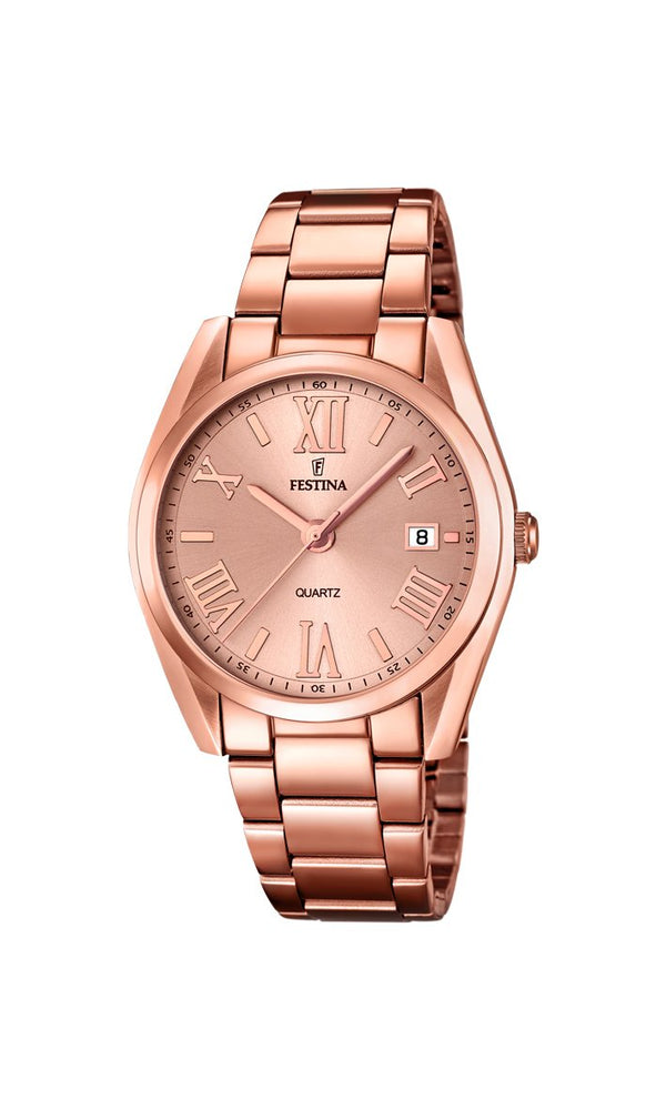 Festina Boyfriend Rose Gold Watch
