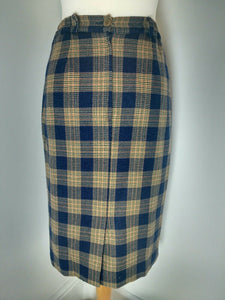 Vintage Wool Pencil Skirt Size 10