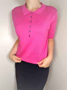 WoolOvers Knitted Polo Size XL