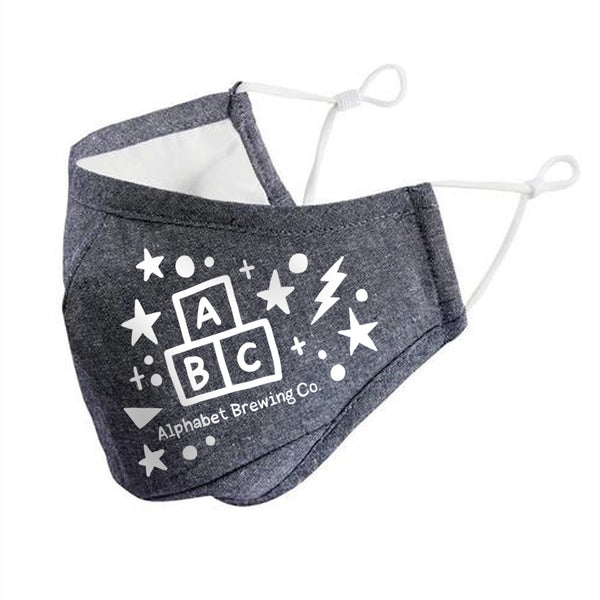 ABC Grey Fabric Mask