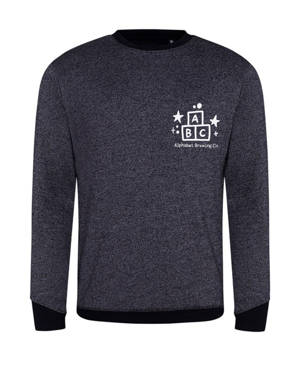 Unisex Black Marl ABC Sweatshirt