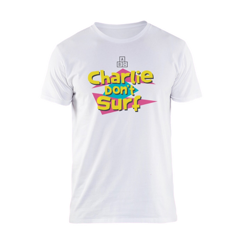 Charlie Don't Surf White T-Shirt