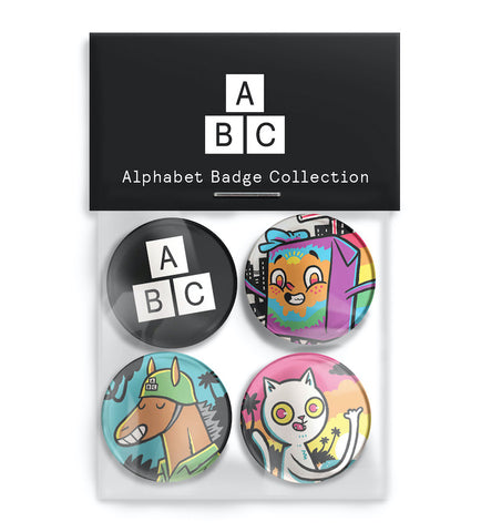 ABC Badge Set
