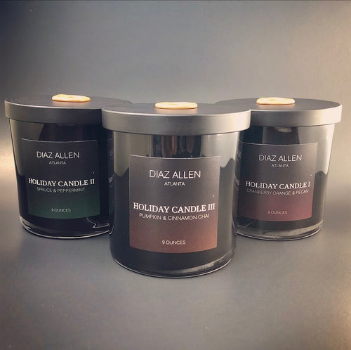 DIAZ ALLEN HOLIDAY 2017 SOY CANDLE COLLECTION