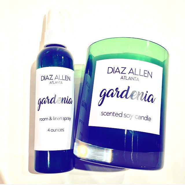 DIAZ ALLEN 'GARDENIA' LIMITED EDITION HOME FRAGRANCE SET