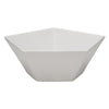 WHITE PENTAGON BOWL
