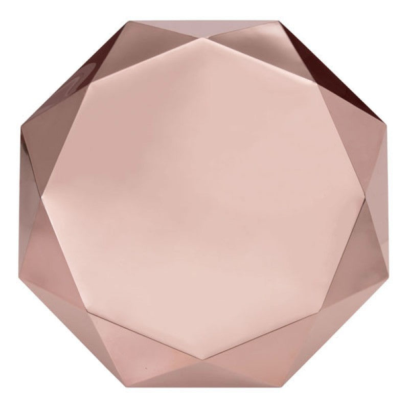 ROSE GOLD GEM COFFEE TABLE