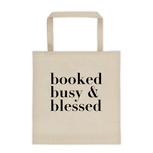 DIAZ ALLEN 'BOOKED BUSY & BLESSED' TOTE (NATURAL)