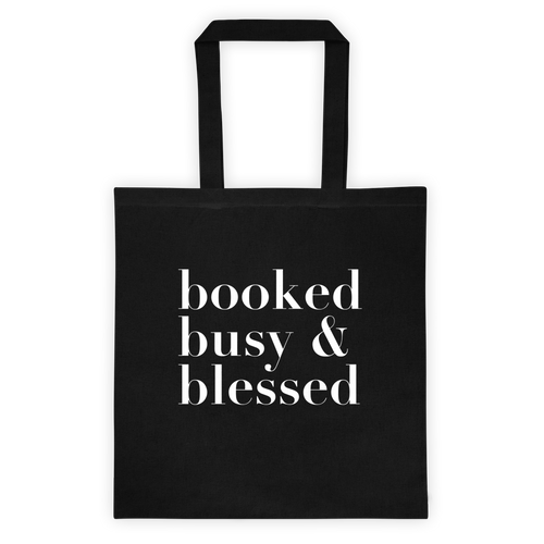 DIAZ ALLEN 'BOOKED BUSY & BLESSED' TOTE (BLACK)