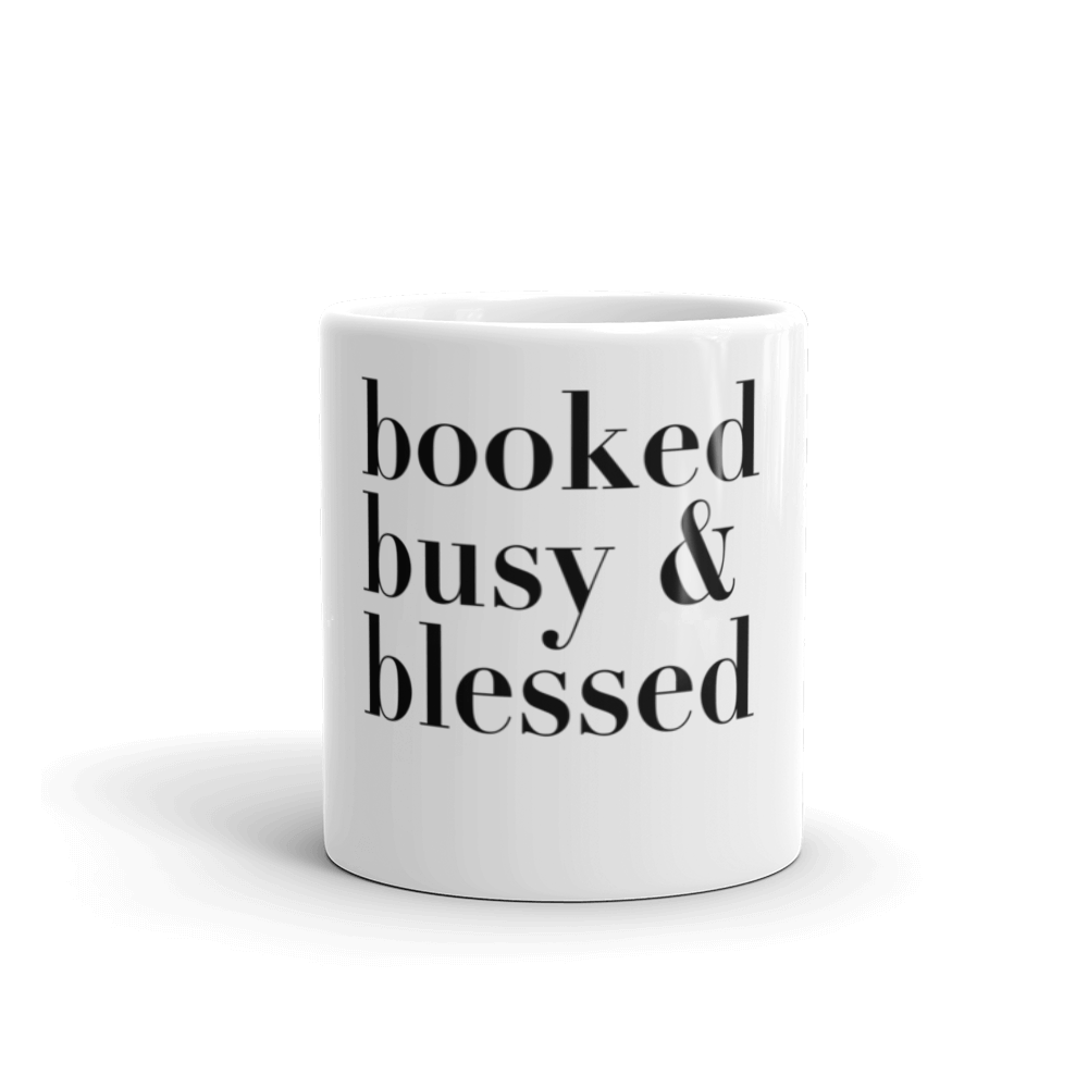 DIAZ ALLEN 'BOOKED BUSY & BLESSED' MUG