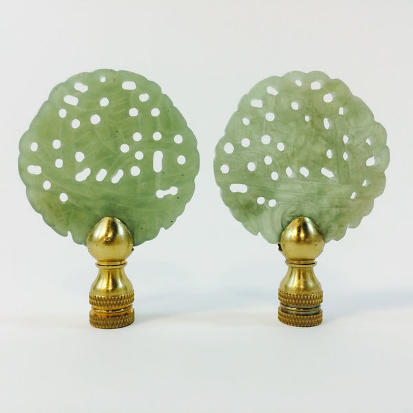 CARVED JADE FINIALS