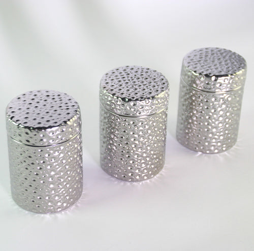 SILVER CANISTERS (SET OF 3)