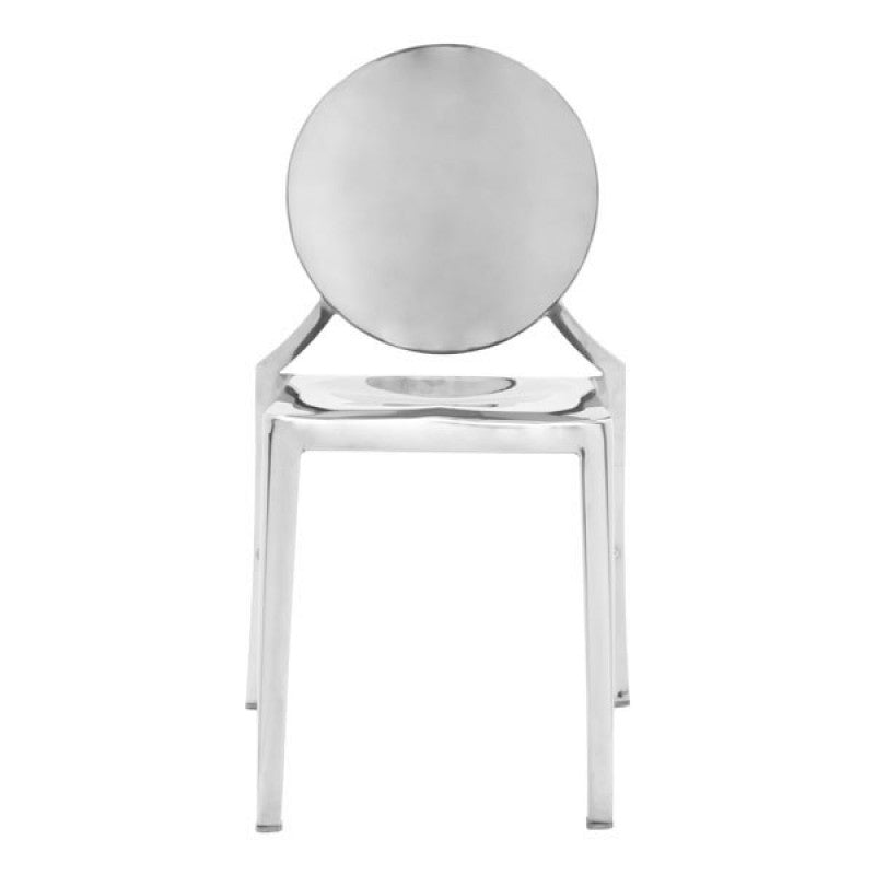 STAINLESS STEEL DINING CHAIR (SET OF 2)