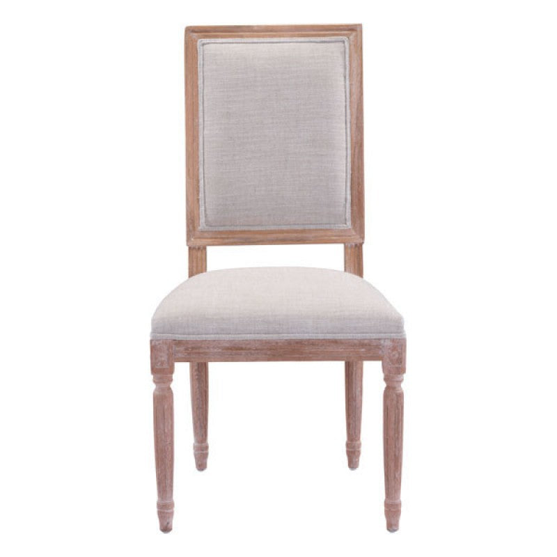 BEIGE FRENCH DINING CHAIR (SET OF 2)