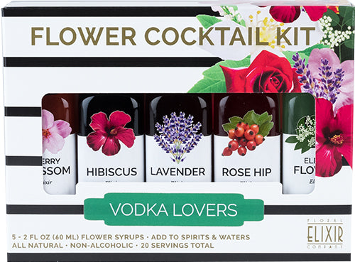 FLOWER COCKTAIL KIT: VODKA