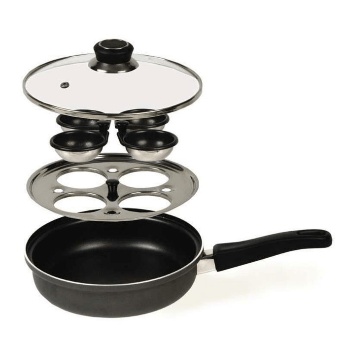 Dexam Non-Stick MultiPan - Poacher and Saute Pan, Aluminium with glass lid