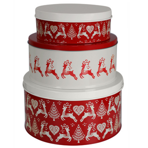 Dexam Yuletide Set of 3 Cake Tins