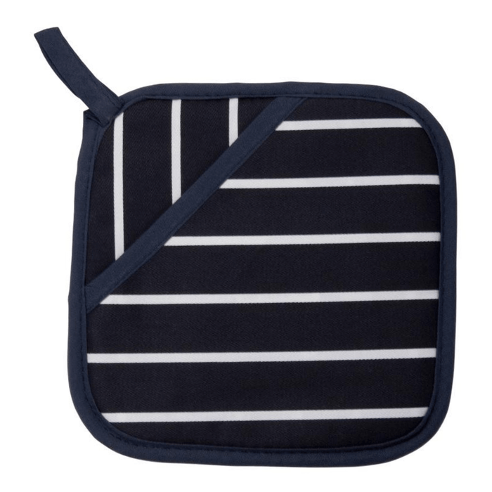 Dexam Rushbrookes Classic Butcher's Stripe Pot Grab - Navy