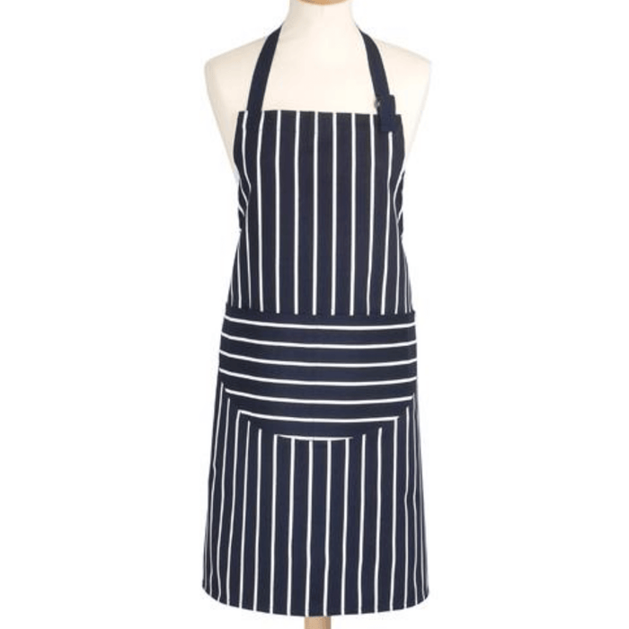 Rushbrookes  Adult Classic Butchers Stripe Apron - Navy