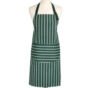 Rushbrookes Adult Classic Butchers Stripe Apron - Racing Green