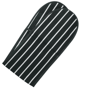 Rushbrookes Classic Butchers Stripe Double Oven Glove  in Slate Grey