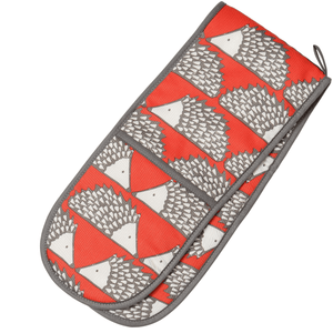 Scion Living Spike Double Oven Glove colour Red and Grey