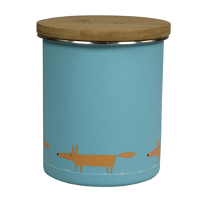 Scion Mr Fox Tea Coffee or Sugar Storage Jar 1.1L Single Print Blue