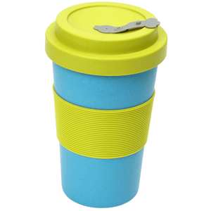 BamBroo Reusable Drinks Mug Teal 400ml