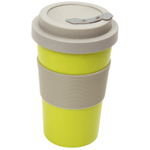 BamBroo Reusable Drinks Mug Greenery 400ml green in colour