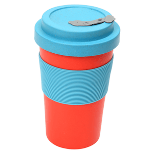 BamBroo Reusable Drinks Mug Scarlet 400ml