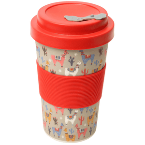 BamBroo Reusable Drinks Mug No Probllama 400ml