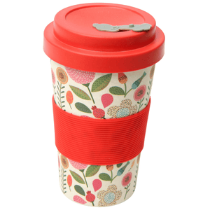 BamBroo Reusable Drinks Mug Patchwork 400ml