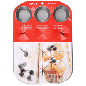 Dexam Non-Stick Muffin Pan - 12 Cup