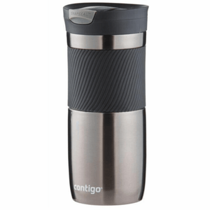 Contigo Byron Snapseal Travel Mug Gun Metal 470ml, flask