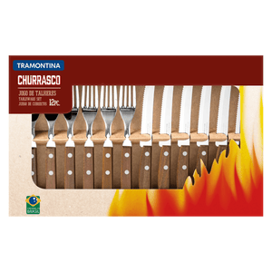 Tramontina Churassco Stainless Steel 12 Piece Steak Knife Set
