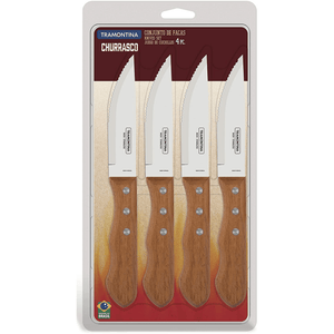 Tramontina Churassco Stainless Steel 4 Piece Jumbo Steak Knife Set