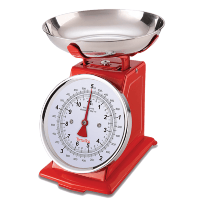 Terraillon Traditional Kitchen Scale - Red