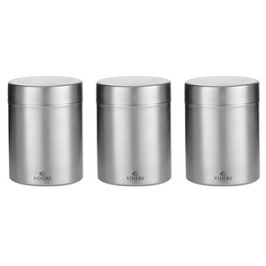 Viners Everyday Set Of 3 Stainless Steel Jars