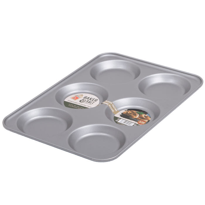 Baker & Salt Non-Stick 6 Hole Yorkshire Pudding Tray