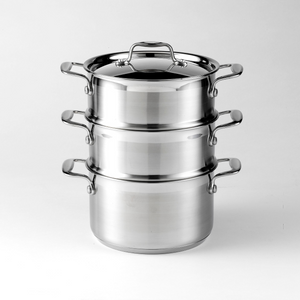 Dexam Supreme 3 Tier Stainless Steel Steamer Set 12101819
