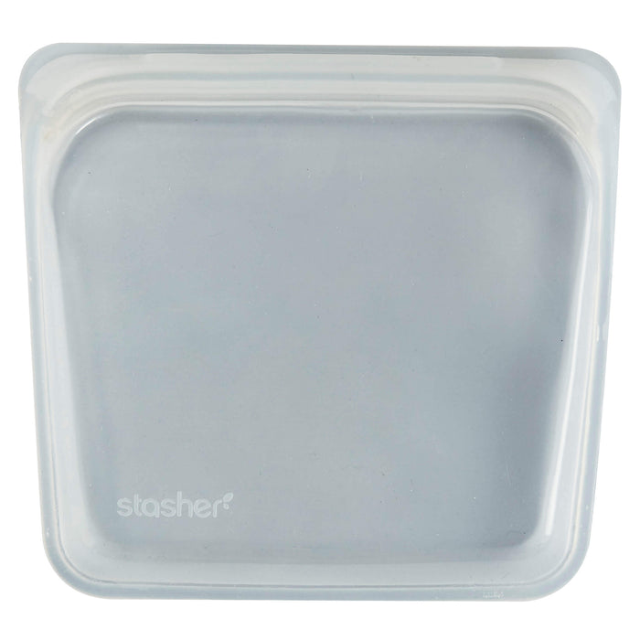 Stasher Silicone reusable Sandwich bag 19 x 18cm - Clear