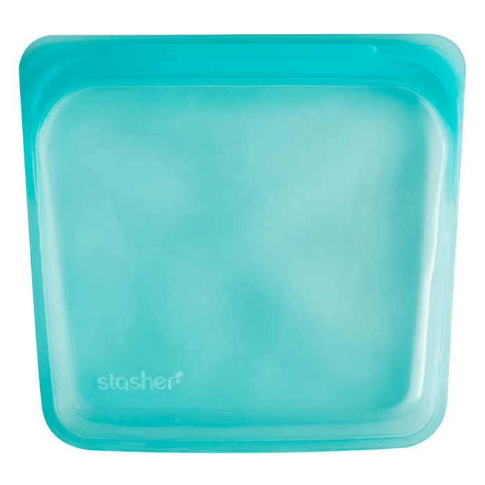 Stasher Silicone reusable Sandwich bag 19 x 18cm - Aqua