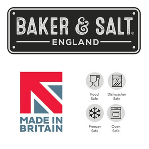 Baker & Salt logo and care instructions